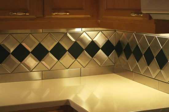Triangle Stainless Steel Tile