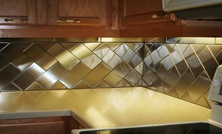 Herringbone with 4 x 8 and triangle tile.