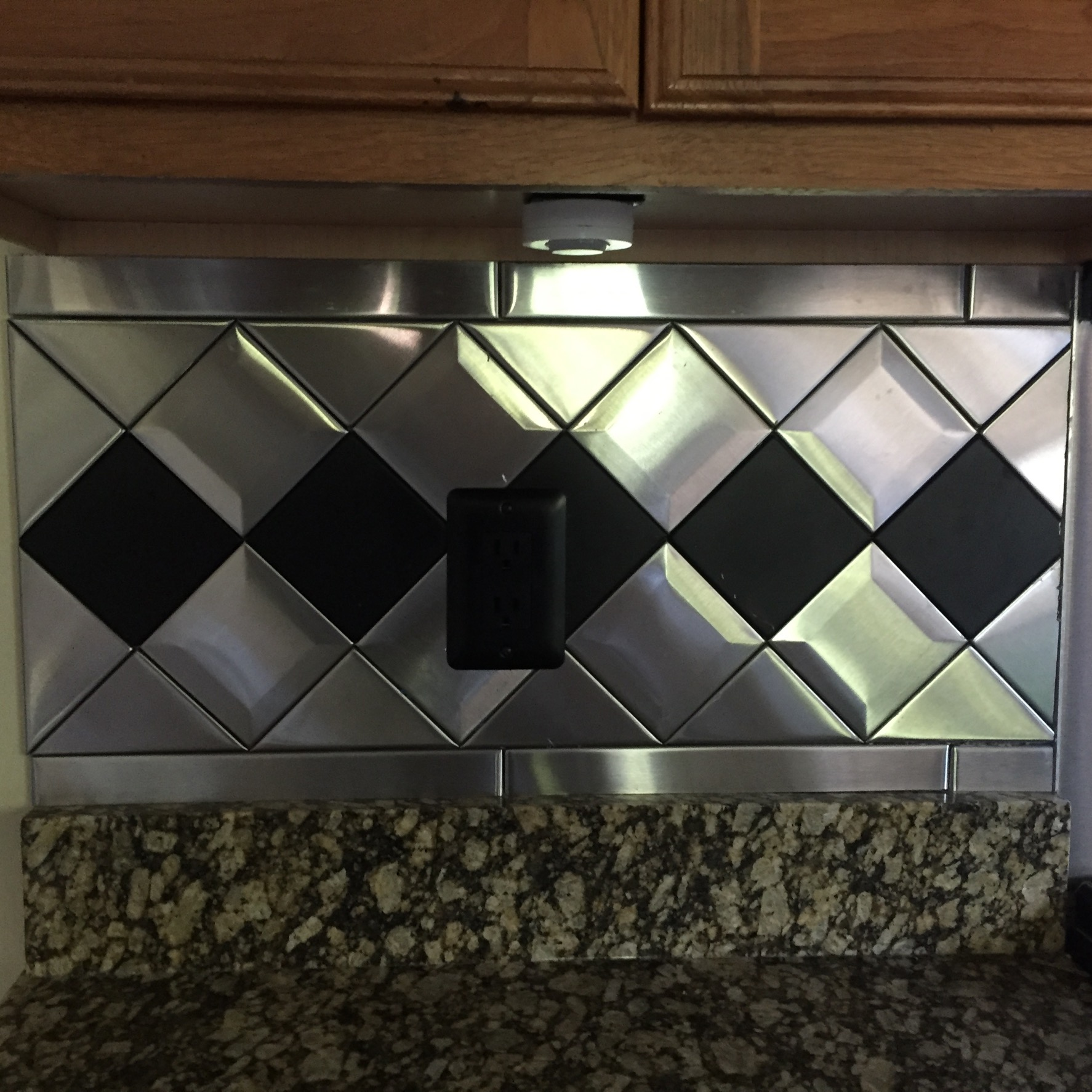 4 X Accent Beveled Stainless Steel Tile