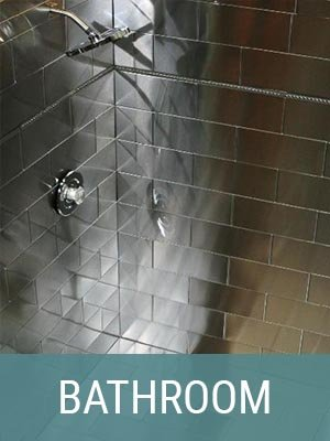 Stainless Steel Tiles Enhance Any Bathroom